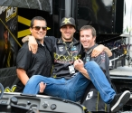 Davi Millsaps, Mechanic Steve Westfall and Justin Fierro from Gopro
