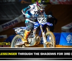 Aaron Plessinger on the Podium Before the Break