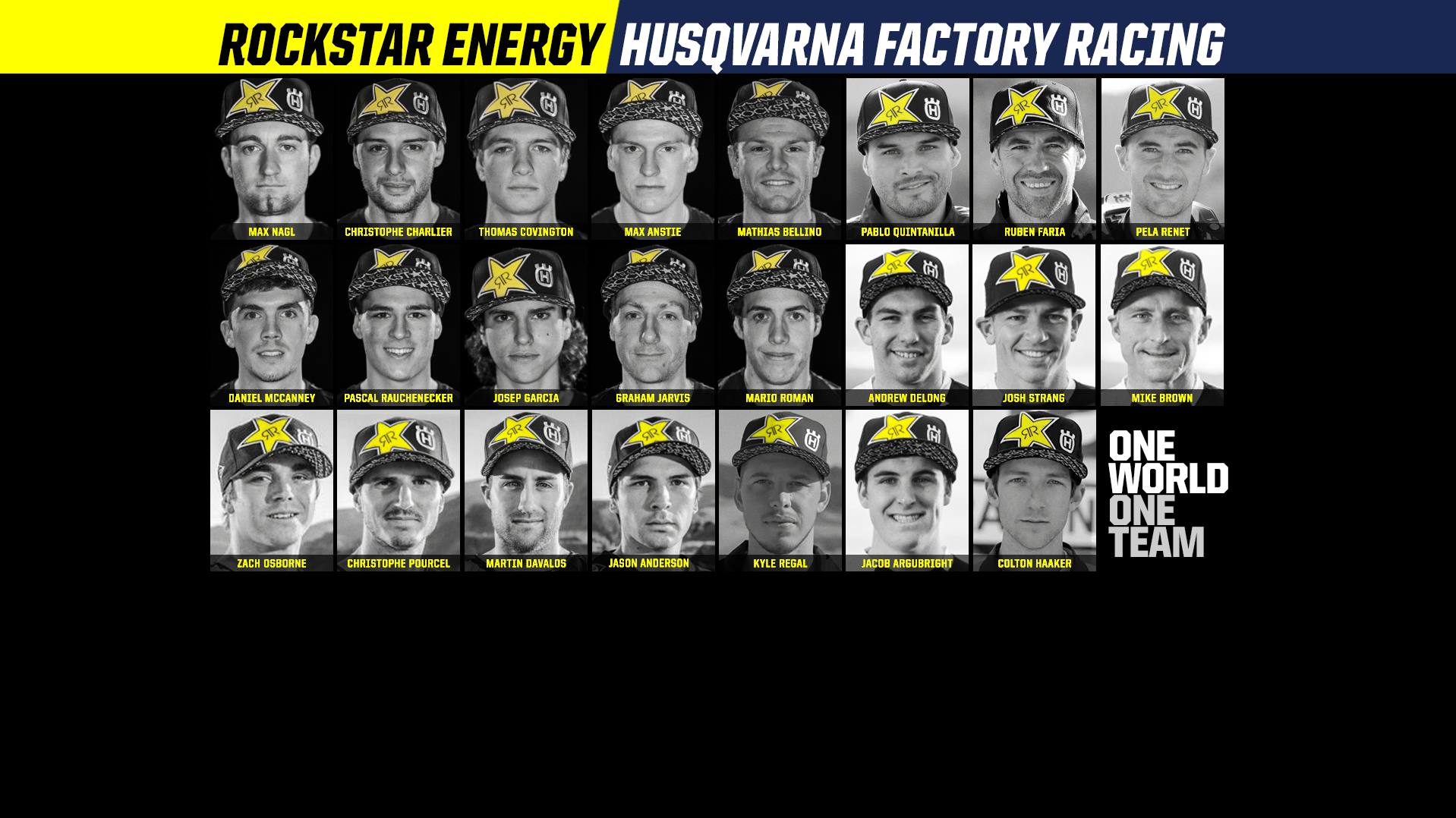 Rockstar Energy Husqvarna Factory Racing Global Partnership 2016
