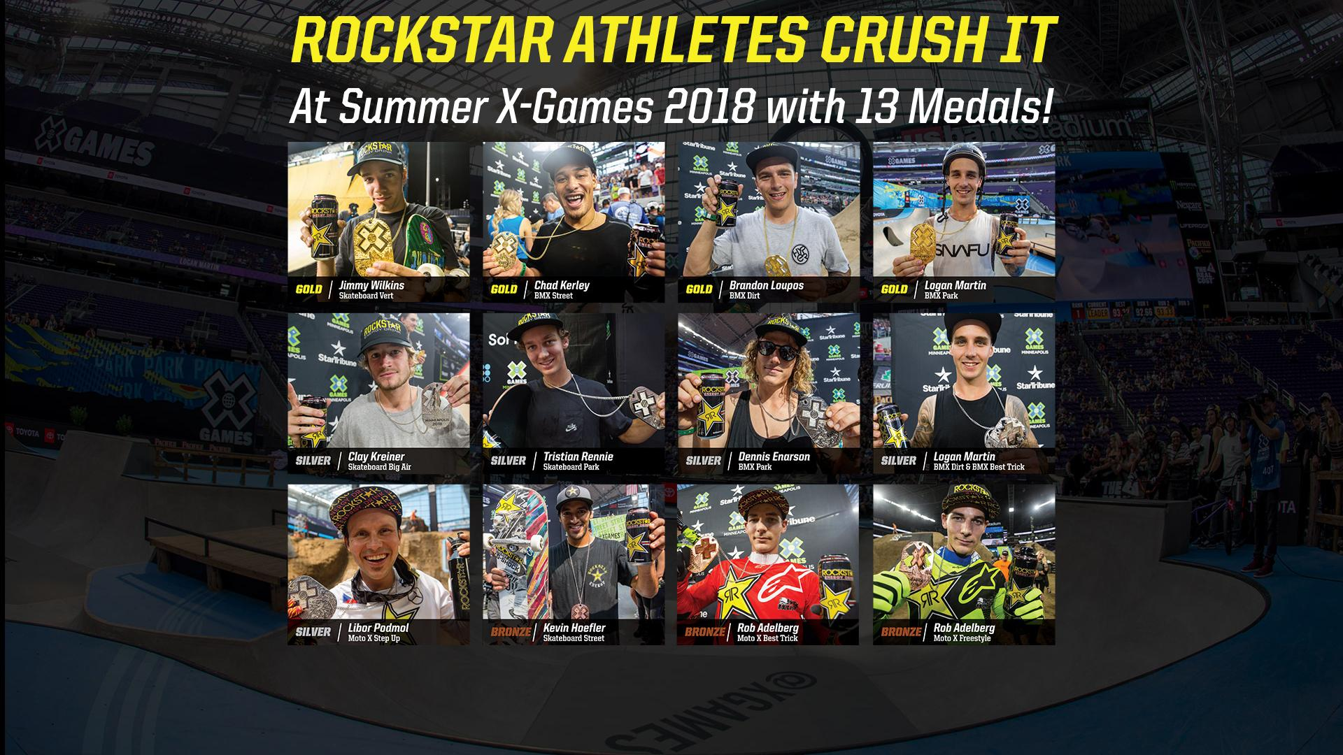 2018 Summer X Games - Rockstar Athletes Crush It!