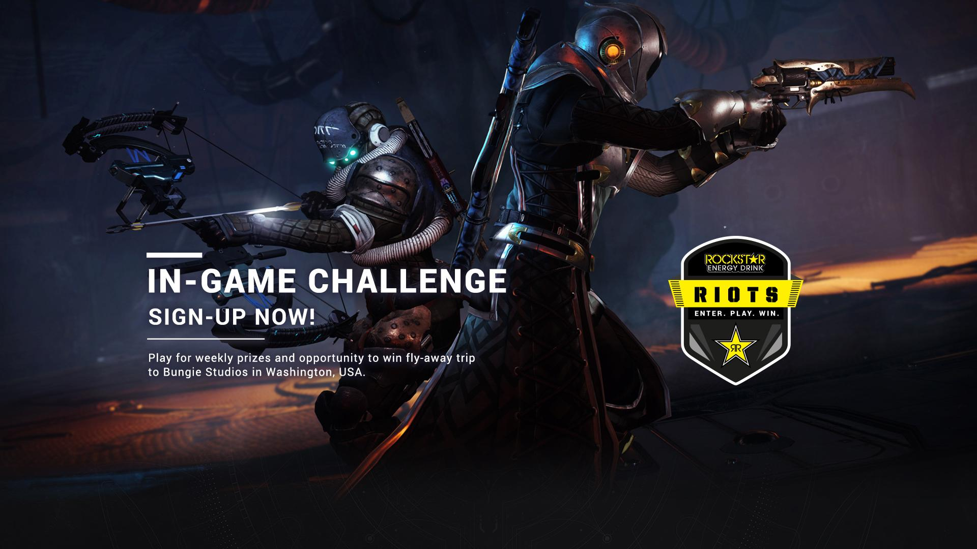Sign Up Now: Destiny 2 In-Game Challenge