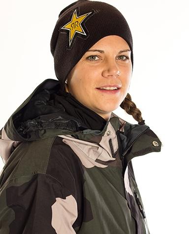 Cheryl Maas Snowboard Rockstar Energy Drink