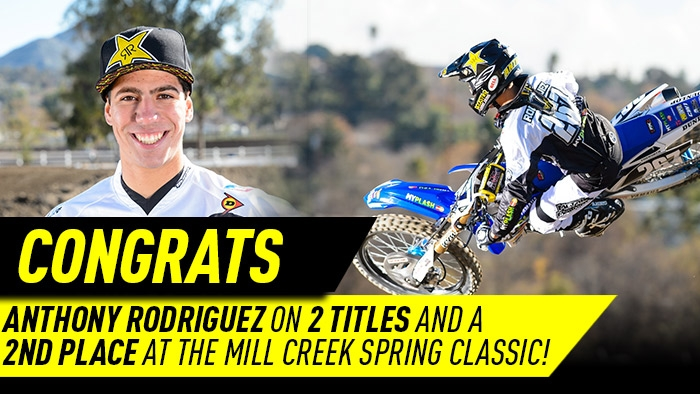 Anthony Rodriguez captures 3 podiums at the Spring Classic