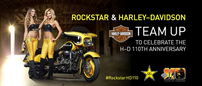 Rockstar Energy Drink and Harley-Davidson announce exclusive partnership during 110th Anniversary Year