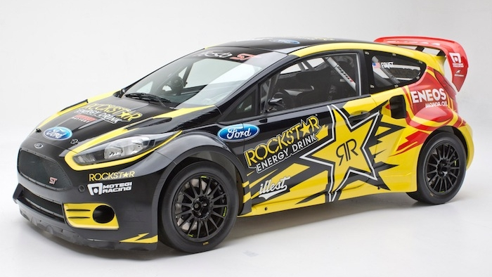 Tanner Foust Unveils his 2013 Rockstar Ford Fiesta ST Rally Car