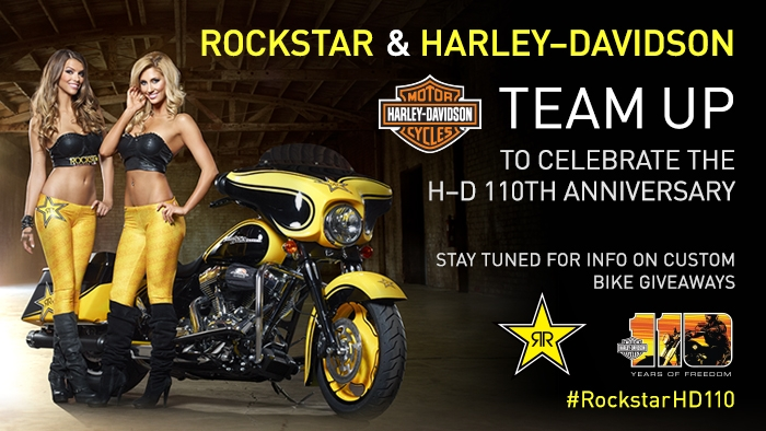 Rockstar & Harley-Davidson announce exclusive partnership during 110th anniversary year