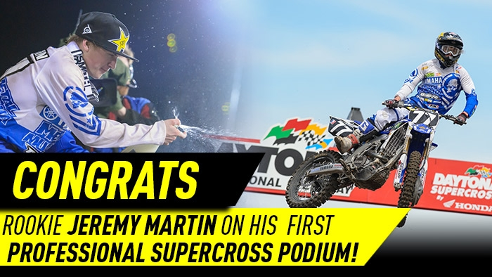 Jeremy Martin podiums at Daytona Supercross