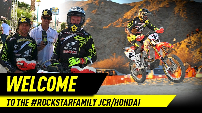ROCKSTAR WELCOMES JCR/HONDA TO THE TEAM