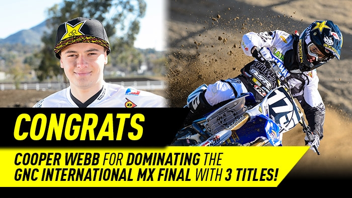 Cooper Webb wins 3 titles at Oak Hill!