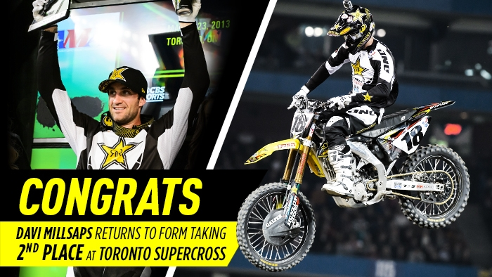 Toronto Supercross - Davi Millsaps finishes 2nd place