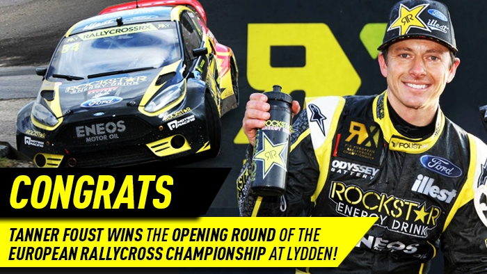 Tanner Foust wins 2013 Rallycross Opener