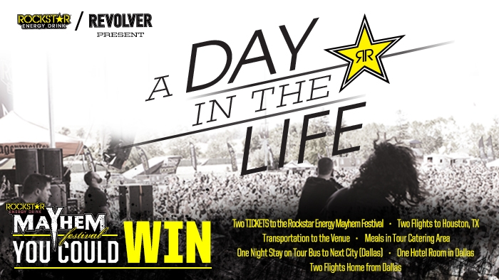 ROCKSTAR MAYHEM FESTIVAL 'A DAY IN THE LIFE' SWEEPSTAKE