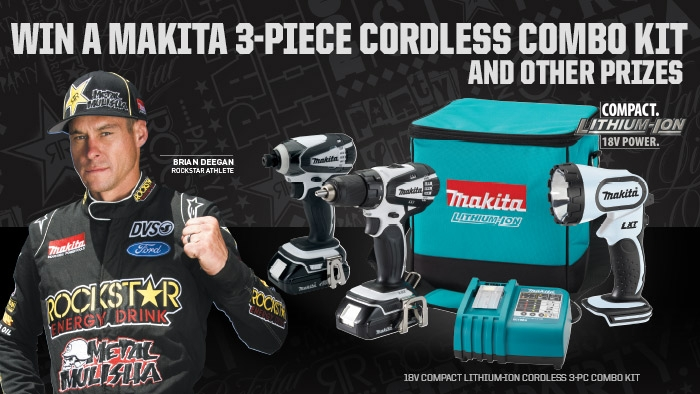 ROCKSTAR & ZIP TRIP 3 MAKITA SWEEPSTAKE