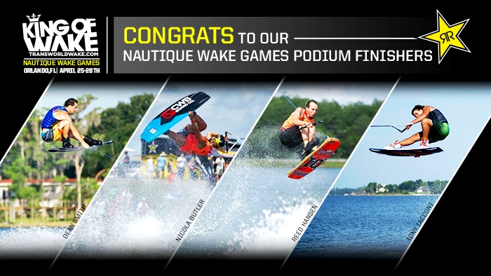 Rockstar Athletes Podium at Nautique Wake Games