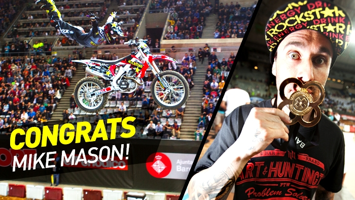 Mike Mason Wins Gold in Speed &amp; Style at X Games Barcelona