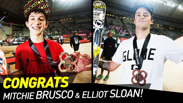 Mitchie Brusco & Elliot Sloan Podium in Skate Big Air at X Games Barcelona