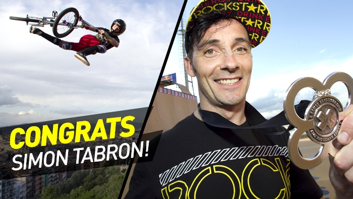 Simon Tabron Wins Silver in BMX Vert at X Games Barcelona