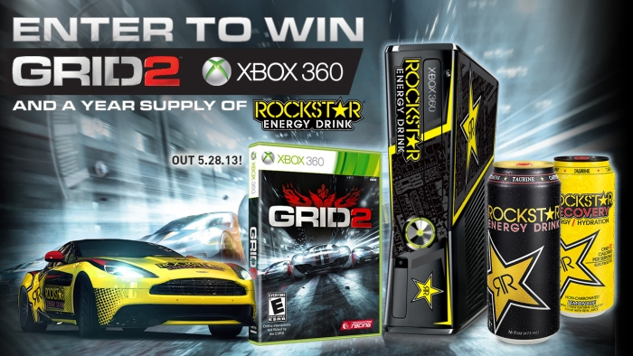 ROCKSTAR GRID 2 & XBOX 360 NATIONAL SWEEPSTAKE