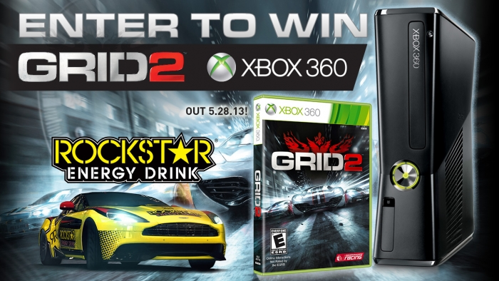 ROCKSTAR & TERRIBLE HERBST XBOX GRID 2 SWEEPSTAKE