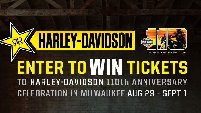ROCKSTAR & HARLEY-DAVIDSON® 110TH ANNIVERSARY SWEEPSTAKE