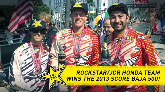 JCR/HONDA VICTORIOUS AT THE 45TH SCORE BAJA 500