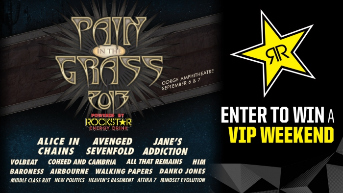 ROCKSTAR & S&S OIL PAIN IN THE GRASS 2-DAY MUSIC FESTIVAL SWEEPSTAKES
