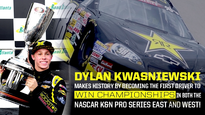 DYLAN KWASNIEWSKI WINS NASCAR K&N PRO SERIES EAST