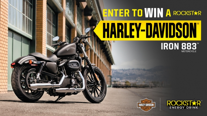ROCKSTAR & REBEL OIL HARLEY DAVIDSON® IRON 883 SWEEPSTAKES