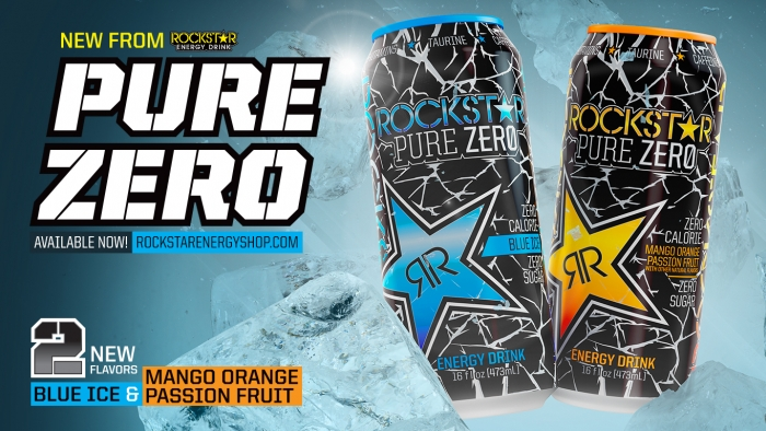 NEW! Pure Zero Blue Ice & Mango Orange Passion Fruit