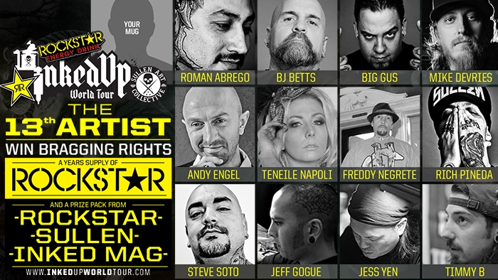 Rockstar's Inked Up World Tour 13th Artist Contest