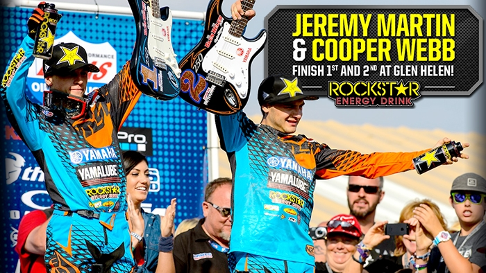 Jeremy Martin and Cooper Webb Top 2 in San Bernardino!