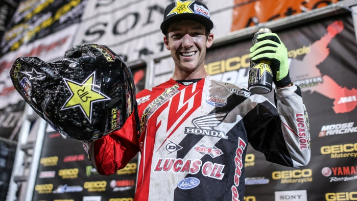 Colton Haaker and JCR Honda Victorious at Sacramento EX