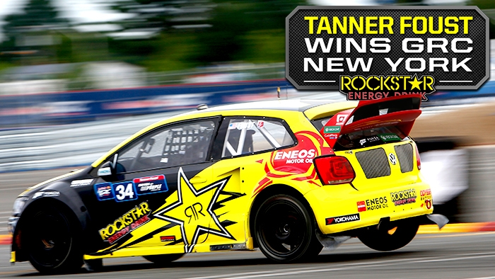 Tanner Foust Wins Global Rallycross in New York