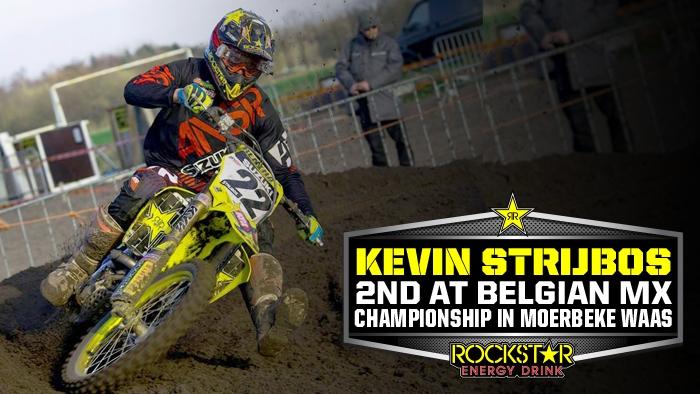 Strijbos on Podium in Belgian MX Championship