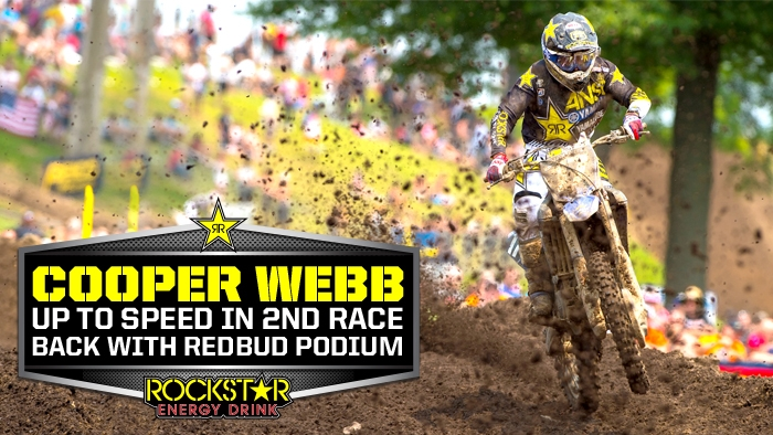 Cooper Webb on Podium in 2nd Race Back