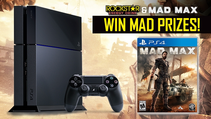 Rockstar and Wheels Mad Max Sweepstakes