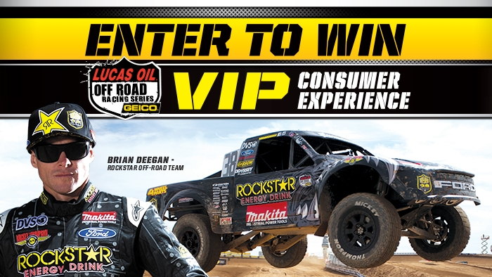 ROCKSTAR & CIRCLE K LUCAS OIL OFF ROAD SERIES SWEEPSTAKES