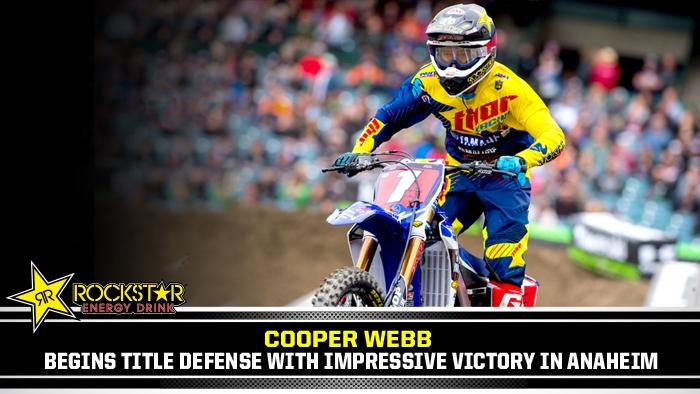 Cooper Webb Wins Anaheim 1
