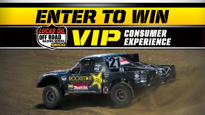 ROCKSTAR & CIRCLE K WEST LUCAS OIL OFF ROAD SERIES SWEEPSTAKES