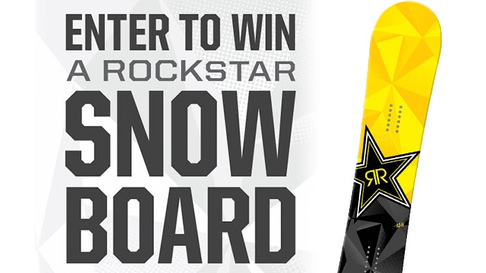 ROCKSTAR & GREEN VALLEY SNOWBOARD SWEEPSTAKES