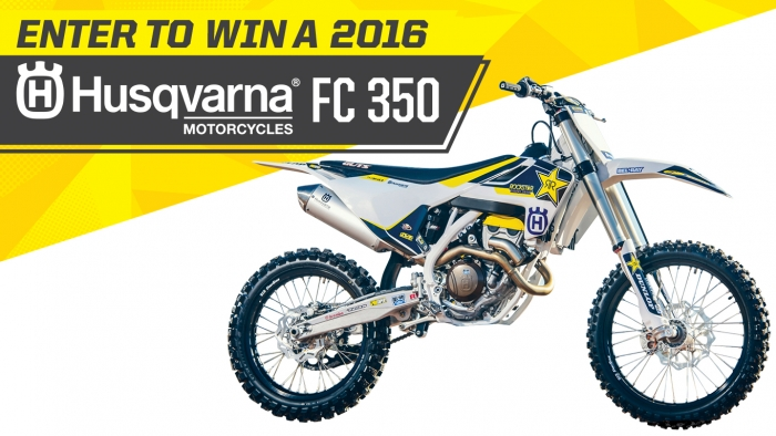 ROCKSTAR HUSQVARNA 350 MX NATIONAL GIVEAWAY