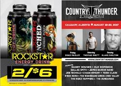 ROCKSTAR & MAC'S WEST COUNTRY THUNDER SASKATCHEWAN CONTEST