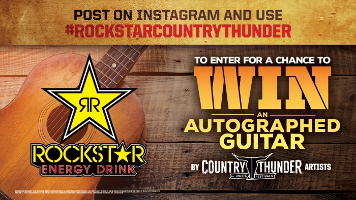 ROCKSTAR COUNTRY THUNDER TWIN LAKES GUITAR GIVEAWAY