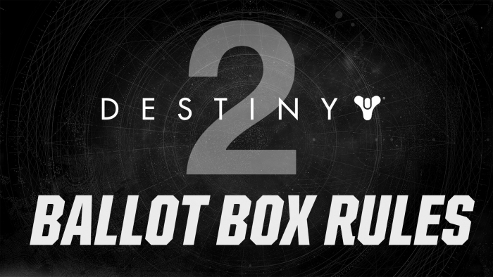 Rockstar Destiny 2 Ballot Box Rules