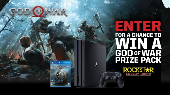 ROCKSTAR AND LOAF N JUG GOD OF WAR SWEEPSTAKES