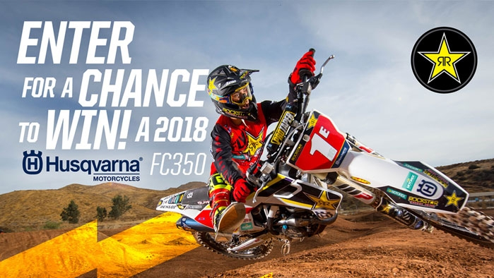 ROCKSTAR & TIMEWISE HUSQVARNA SWEEPSTAKES