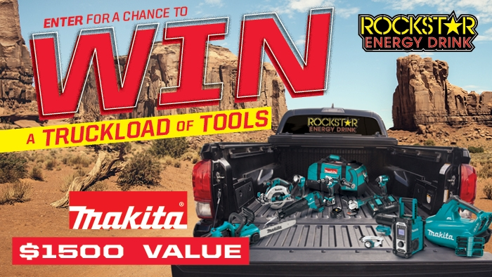 ROCKSTAR & WOODMANS MAKITA SWEEPSTAKES